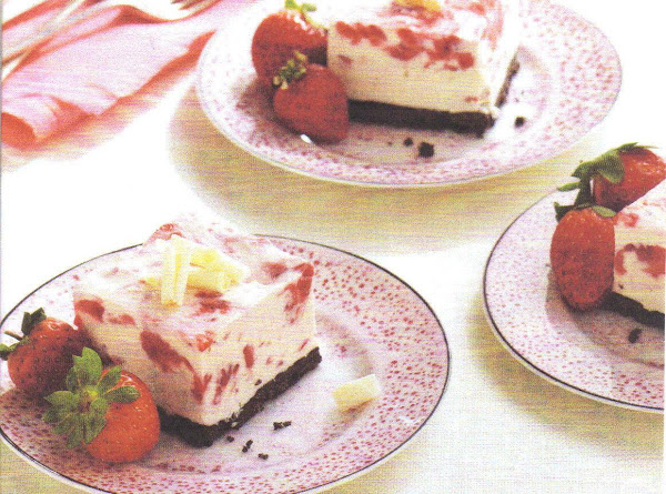 Frozen Strawberry-white Chocolate Mousse Squares Recipe