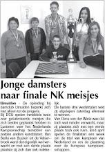 Photo: Jonge damsters naar finale NK meisjes 19 maart 2009