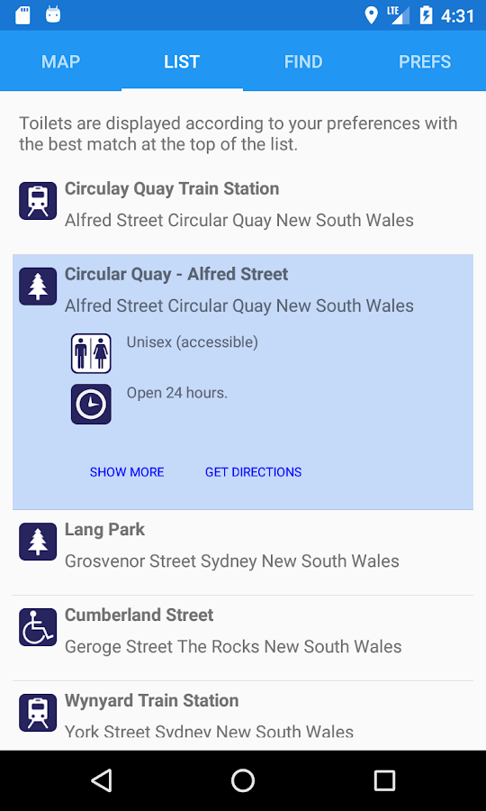 National Public Toilet Map- screenshot