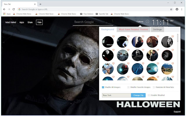 Halloween 2018 HD Wallpapers New Tab Themes