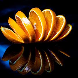 Tha orange by Adrian Minda - Food & Drink Fruits & Vegetables ( orange, close up, fruit, flower )