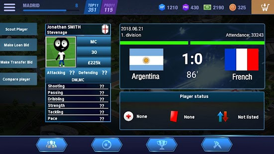 2019 Football Fun - Fantasy Sports Strike Games Screenshot