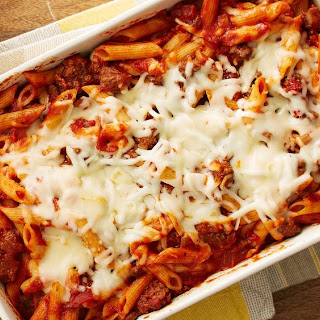 Easy Double Cheese Baked Penne.