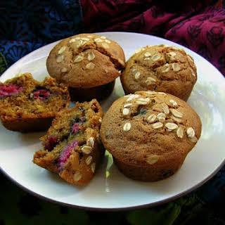 Raspberry Multigrain Muffins.