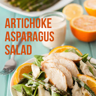 Healthy Artichoke and Asparagus Chicken Salad Recipe {Paleo, Clean Eating, Gluten Free, Dairy Free, Whole30}.