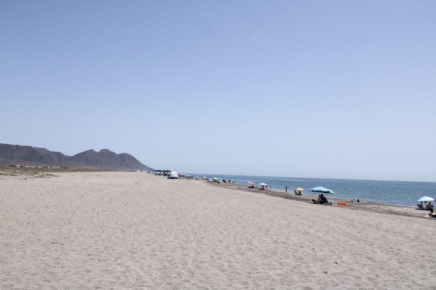La playa más larga del Parque Natural Cabo de Gata-Níjar.
