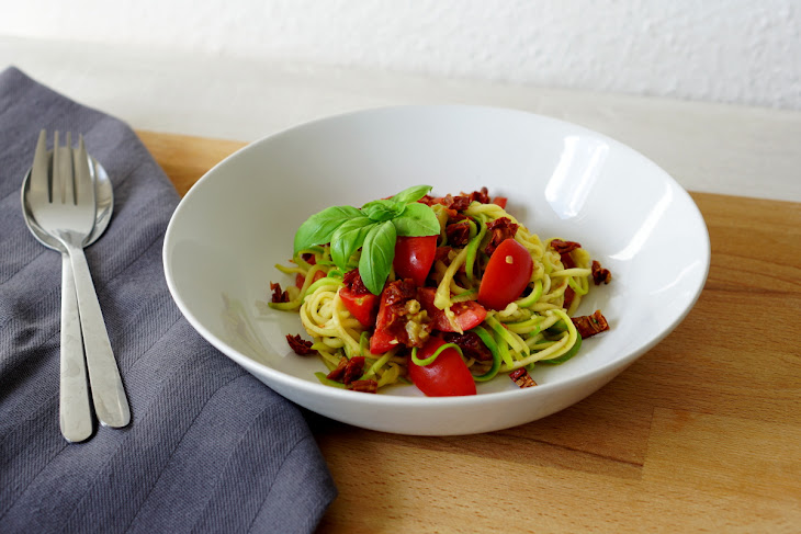 Double Tomato Zucchini Noodles Recipe
