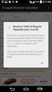 E-Liquid Nicotine Calculator screenshot 5