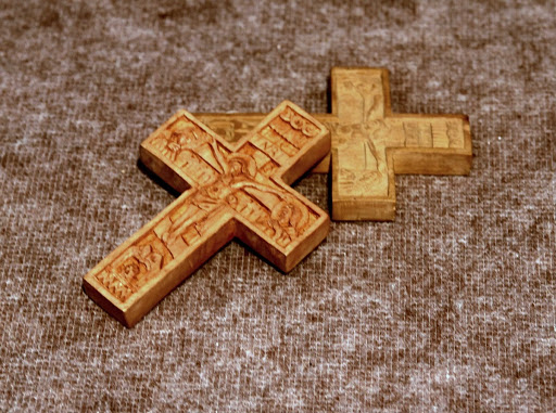 Little carved cross from T. G. Masaryk's work desk.