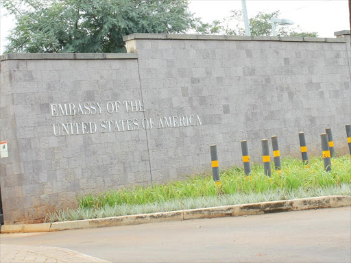 The US Embassy in Gigiri, Nairobi.