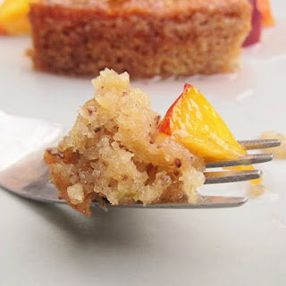Jicama Lime Cake with Tequila-Glazed Nectarines