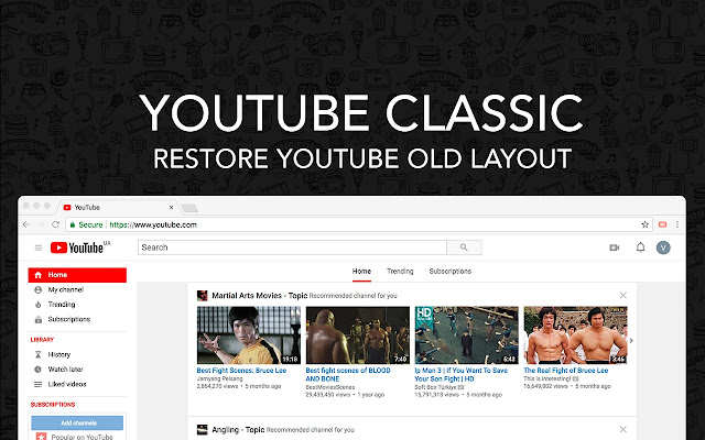 Youtube Classic - Restore Youtube Old Layout
