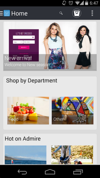 Admire mCommerce- screenshot