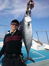 "Photo: 初乗船""市川さん""はハガツオゲット!"