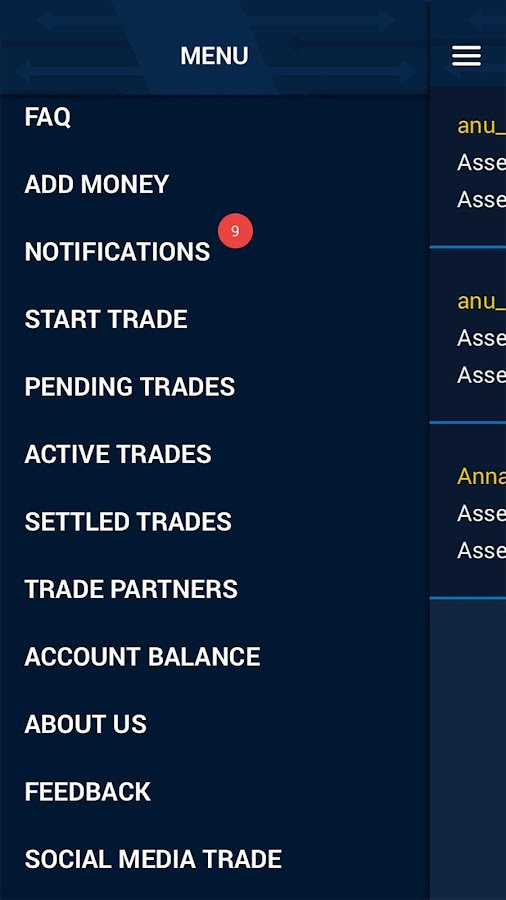 AmukTrade-Investments betting with friends- screenshot