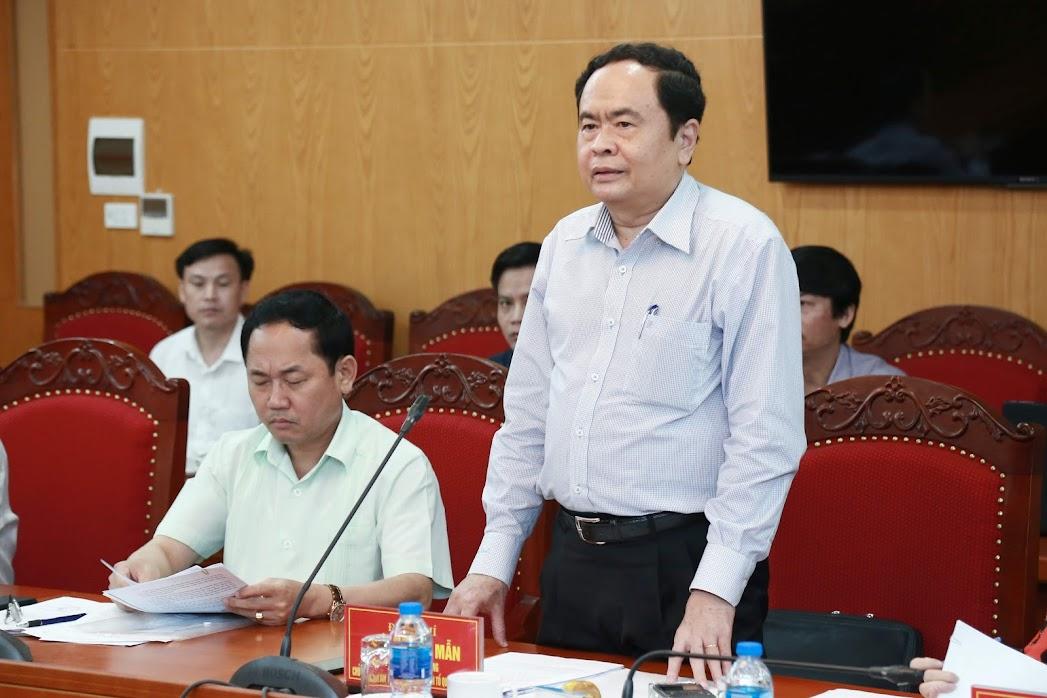 BẢN TIN MẶT TRẬN: Chủ tịch Trần Thanh Mẫn làm việc với Đảng ủy Khối các cơ quan Trung ương
