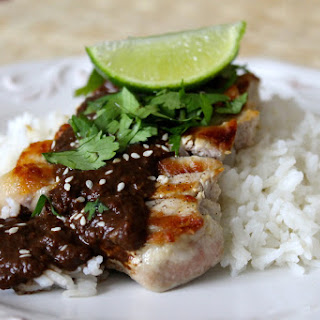 Pork Chops in Chipotle Mole Sauce