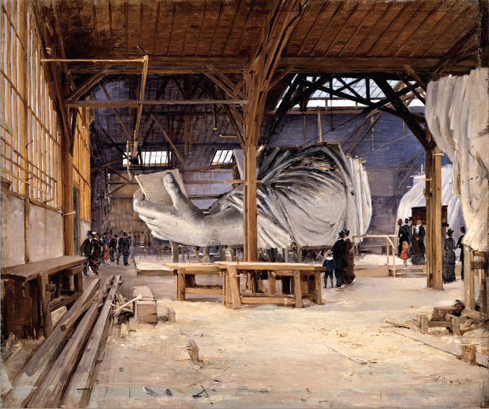 Paul Joseph Victor Dargaud, The Statue of Liberty in Frederic-Auguste Bartholdi's Studio, Paris, 1884, Santa Barbara Museum of Art, California