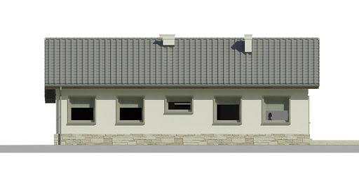 Dom przy Przyjemnej 7 bis - Elewacja tylna
