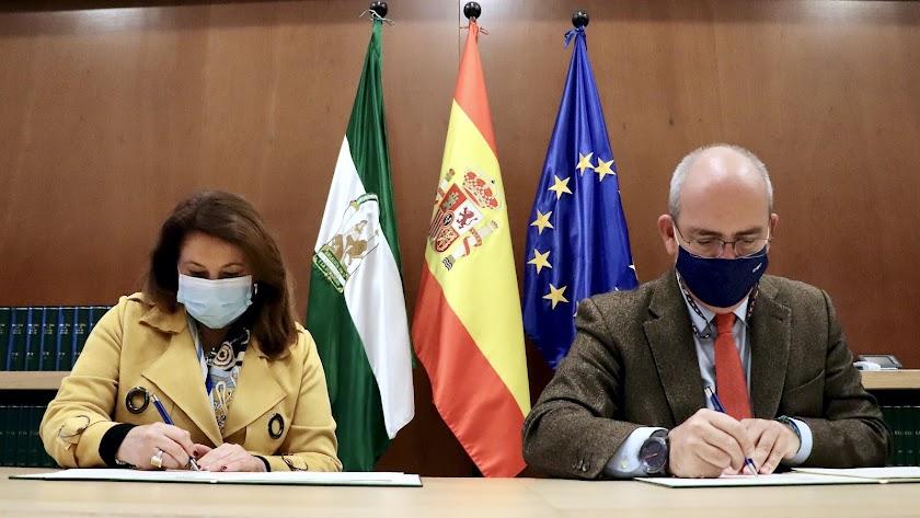 Carmen Crespo y Javier Sánchez Rojas firman un convenio de colaboración para fomentar la innovación, la promoción y la internacionalización del sector