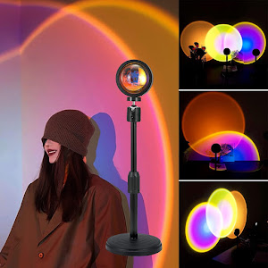 Lampa cu lupa videografie - efecte Sunset, Rainbow, Sunrise, Sun