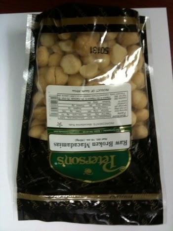 Front Package - Peterson's Raw Broken Macadamias, 16 oz