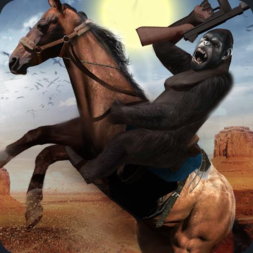 Apes Age Vs Wild West Cowboy: Survival Game