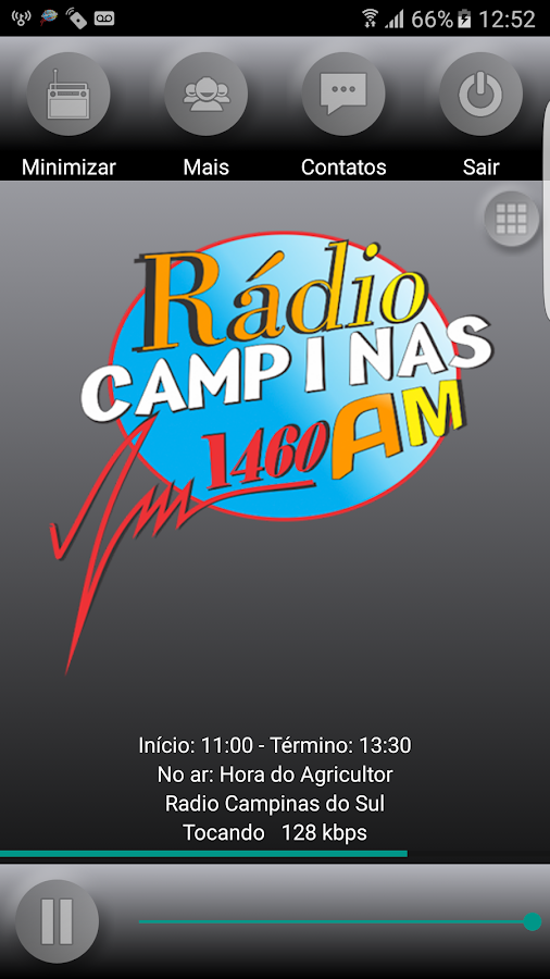 Radio Campinas AM: captura de tela