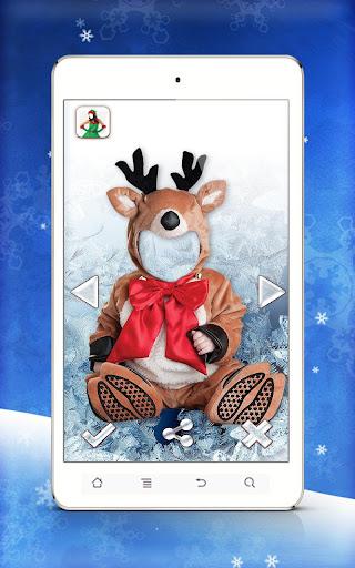 聖誕照片蒙太奇- 有樂趣的聖誕臉孔照片蒙太奇!