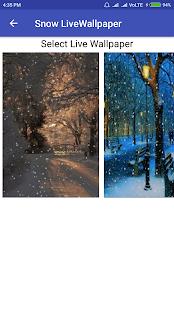 Snow LiveWallpaper - náhled