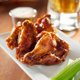 Ale-Spiked Chicken Wings with Homemade Ranch Dip.