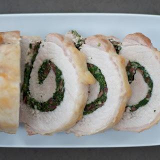 Greek Pork Loin Roulade.