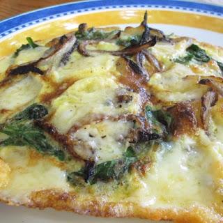 Spinach, Onion & Cheese Frittata