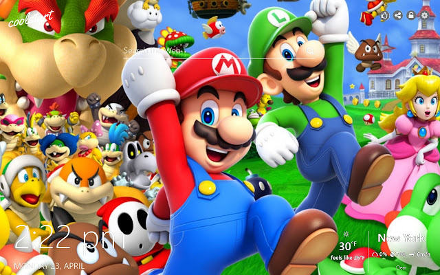 Super Mario Bros HD Wallpapers New Tab Theme