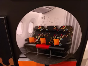 Photo: Seat choices at Dreamliner Gallery