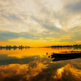Sunrise after rain  by Lim Wee - Landscapes Sunsets & Sunrises