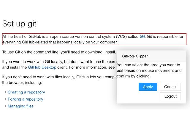 GitNote Clipper