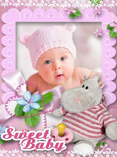 赤ちゃんのフォトフレーム