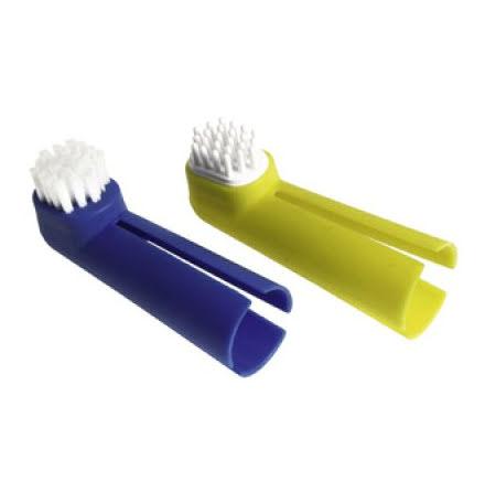 Tandborste Hund 2st för Finger 3-Pack