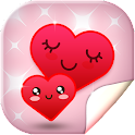 Cute Hearts Live Wallpaper HD icon