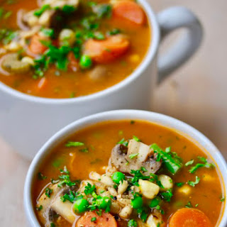 Updated Vegetable Soup with Mushrooms and Barley.