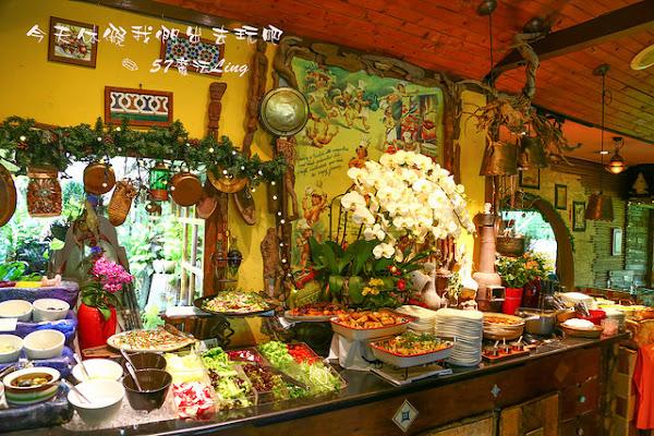 南投中興新村-松濤園。歐式自助式吃到飽餐廳。體驗戰斧牛排