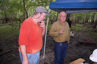 Photo: Jim Dunbar, Ph.D., Anthropology, FSU (2012) in the field at the Norden Site, Marion County, Florida.