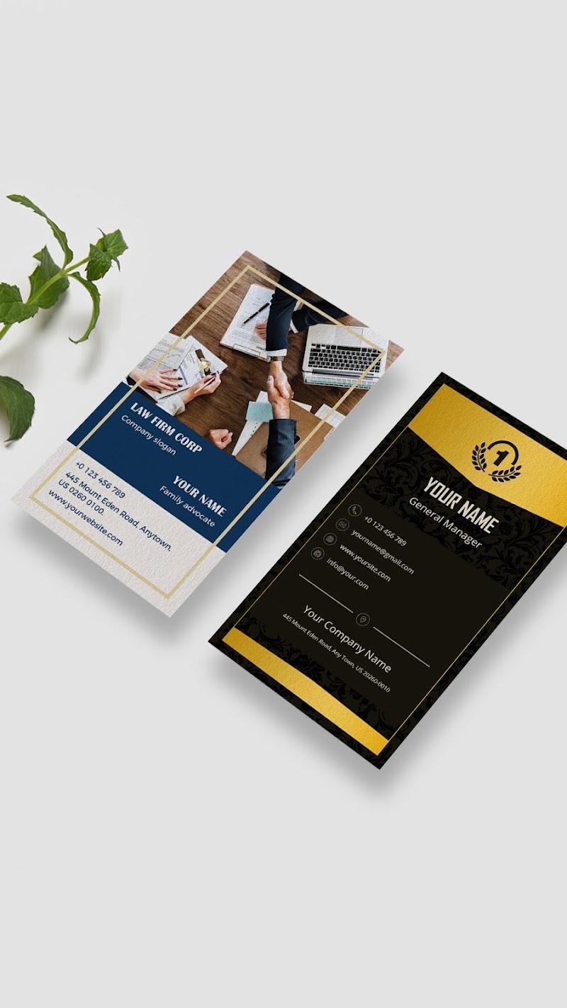 Business Card Maker - Branding Template Editor Screenshot 0