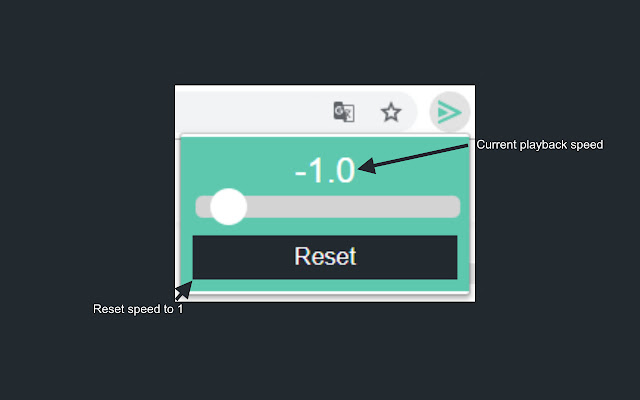 Chrome playback speed controller