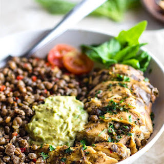 Garlicky Green Crock-Pot Chicken and Lentils {Gluten Free}.