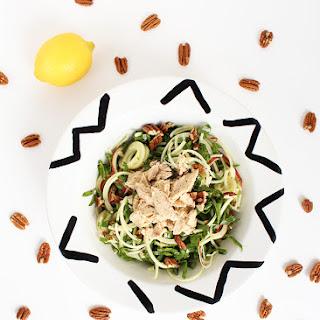 Shredded Chard, Apple Noodle and Tuna Salad with Lemon Dijon Vinaigrette.