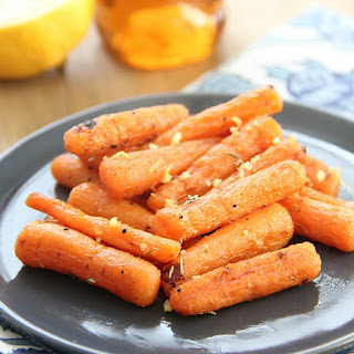 Honey Lemon Roasted Carrots