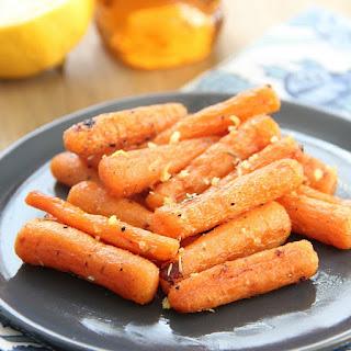 Honey Lemon Roasted Carrots.