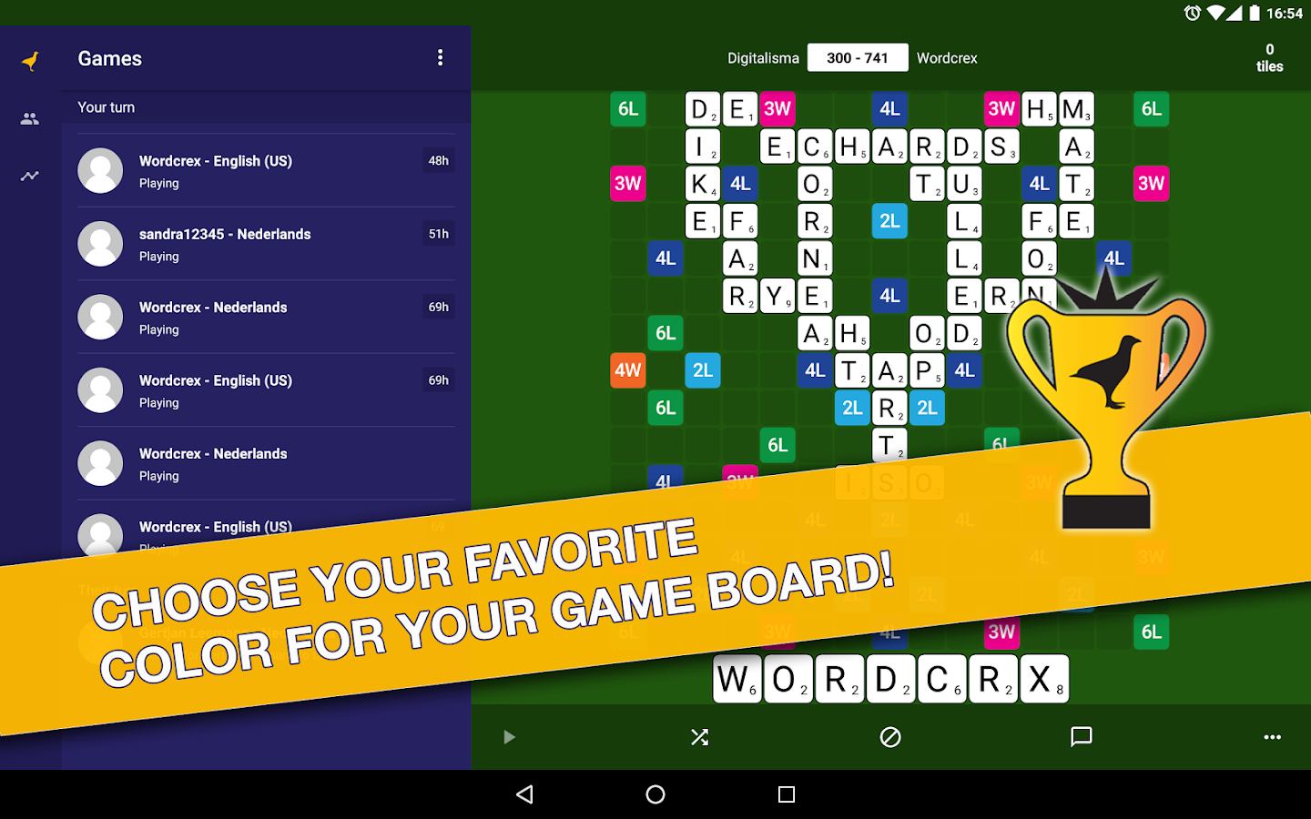 WordCrex: The fair word game- screenshot